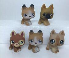 LPS Littlest Pet Shop Dog Lot of 5 AUTHENTIC German Shepard Dogs Hasbro