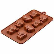 Silicone Chocolate Mould Tray Round Icing Craft Cake Jelly Baking Ice Animals