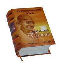 O Pensamento Vivo Mahatma Gandhi in Portuguese capa dura de livro em miniatura