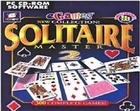 Solitaire Master 2 Pc New Cd Rom Sealed In Paper Sleeve XP