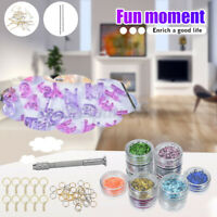 186 Set Jewelry Mould Handmade Crystal Glue Mould Kit Resin Silicone DIY Mold US