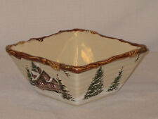 "St. Nicholas Square ""Snow Valley"" Soup / Cereal Bowl, 6"" Sq."