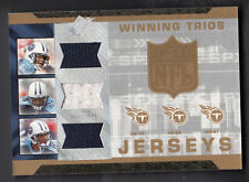 Vince Young-Chris Brown-David Givens 2007 SPX Winning Trio Game Worn Jersey Card