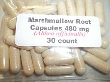 Marshmallow Root Powder Capsules (Althaea officinalis) 480 mg - 30 Count