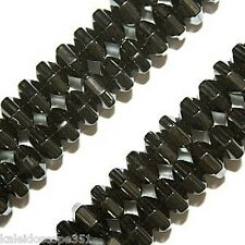 MAGNETIC HEMATITE BEADS 18 FACET HEXAGON CYLINDER 4X5MM