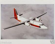 VINTAGE NORTHWEST AIRLINK - MESABA FOKKER F 27 AIRCRAFT  IN FLIGHT - COLOR 8X10