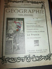 P. FONCIN cours elementaire GEOGRAPHIE 1920