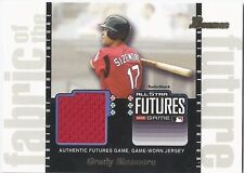 Grady Sizemore RED SOX 2003 Bowman FABRIC OF THE FUTURE