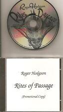 ROGER HODGSON Rites Of Passage RARE PROMO ADV CD ALBUM ex SUPERTRAMP