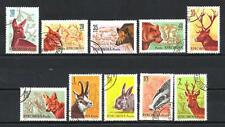 Animaux Faune sauvage Roumanie (116) série complète 10 timbres oblitérés