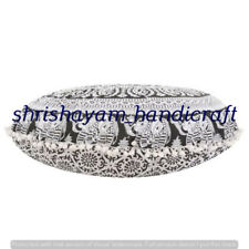 "32"" Large Mandala Round Floor Indian Cushion Cover Pillow Sham Ottoman Pouf Case"