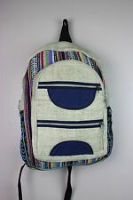 Recycle Hemp Eco-Friendly RuckSack Backpack Bag THC FREE Handmade Fairtrade HB90