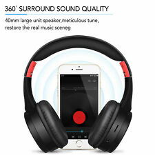HiFi Stereo Bass Foldable Wireless Bluetooth 5.0 On Ear Headset Headphones w/Mic