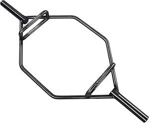 Olympic 2 Inch Hex Weight Lifting Trap Bar 1000 Pound Capacity Regular Black