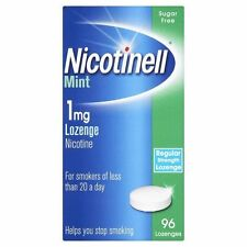 2 X Nicotinell 1 MG MINT Lozenges 96 S Helps Quit Smoking