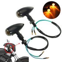 2x Motorcycle Turn Signal Light Indicator Blinker For Yamaha Honda Universal
