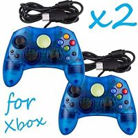 2 Lot New Blue Controller Control Pad For Original Microsoft Xbox X Brand New 6Z
