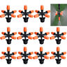 5-Head Cross Micro Sprinkler Garden Irrigation Mist Fog Nozzle Spray Watering