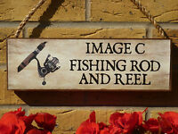 PERSONALISED SHED SIGN FISHING TACKLE FLY FISHING TROUT SALMON FISHING GIFT SIGN