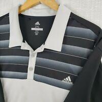 ADIDAS GOLF 2XL Mens Golf Casual Polo Shirt Breathable Black White Stripes XXL