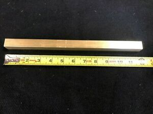 """3/4"""" square bar 360 Brass x 12.00"""" long   Lathe or milling Stock"""