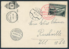 Zeppelin Liechtensteinfahrt 1931 1 Fr. Zeppelin Karte in die USA (S13555)
