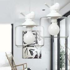 Creative DIY Big Ceiling Bird Lamp Glass Pendant Lighting Home Chandelier Light