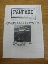 01/01/1988 Non-League Football: Fanfare Magazine - For London & The South East -