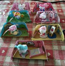 Hello Kitty Kinder Eggs Surprise Prize Toy Sets 7 Different Themes