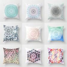 Vintage Bohemian Mandala Square Throw Pillow Case Sofa Cushion Cover Ornament