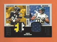 2003 HOT PROSPECTS PLAXICO BURRESS DAVID BOSTON GAME-USED JERSEYS #d 139/325