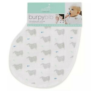 New Aden and Anais Essentials Burpy Bib Elephant Double Sided