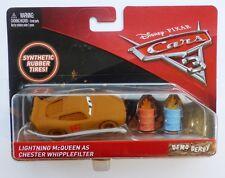 Disney Cars 3  LIGHTNING McQUEEN AS CHESTER WHIPPLEFILTER  DEMO DERBY  Rare !!