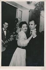 Yvonne De Carlo - Ali Khan 1952 - Soirée Danse Cannes  - PR 750