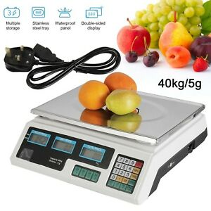 Price Scales 40kg/5g Digital Electronic Price Shop Retail Weighing Scale