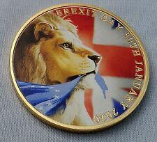 BORIS JOHNSON Gold Coin The Man Who Got BREXIT Done Lion Faux Diamond Old Retro