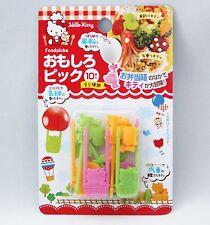 New Hello Kitty Lunch Food Picks Sanrio Kawaii a Pack of 10picks *Free Shipping