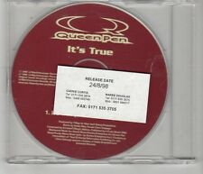 (HJ289) Queen Pen, It's True - 1998 DJ CD