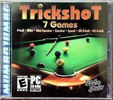 Trickshot 7 games for Windows 9-ball, Killer, Mini Snooker, Snooker Speed 8-ball
