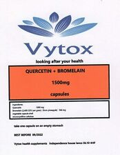 Quercetin & Bromelain (1500mg) 365 Capsules, by vytox, Vegetar