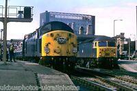 British Rail Class 40 40 086 & 56 012 Sheffield 14/07/84 Rail Photo