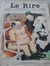 Caricature 1900 de Abel Faivre  L'ouvreuse Insiste...Homme nue