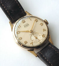 SMITHS ASTRAL 9k GOLD MANUAL 1950's WELL PRESERVED & ALL ORIGINAL SUB SEC DIAL