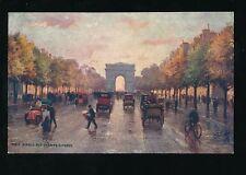 France PARIS Avenue Champs-Elysees Tuck Oilette serie 951 #48 French Edition PPC