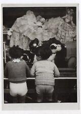 PHOTO 1930 Stella Presse Paris Vitrine Magasin Noël Jouet Devanture Enfant Dos