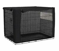 QCWN Dog Crate Cover for Wire Crates, Polyester Durable Windproof Pet Kennel