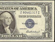 UNC 1935E $1 DOLLAR BILL SILVER CERTIFICATE CURRENCY BLUE SEAL NOTE PAPER MONEY