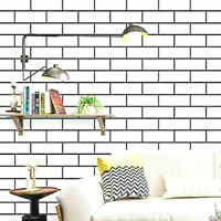 White Brick Contact Paper Wallpaper Peel and Stick Wall Paper Self Adhesive Film
