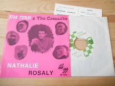 "7"" tribale Jim Ivan/Cossacks-Nathalie/Rosaly (2) canzone radio Rec"