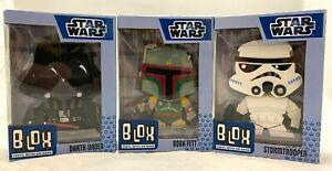 Funko Blox Figure Set Star Wars DARTH VADER BOBA FETT STORMTROOPER NEW IN BOX